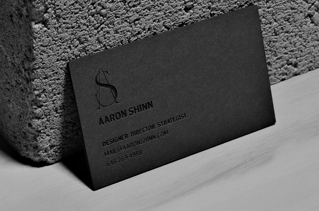No Ink Laser Etched Business Cards Aaron Shinn Designer